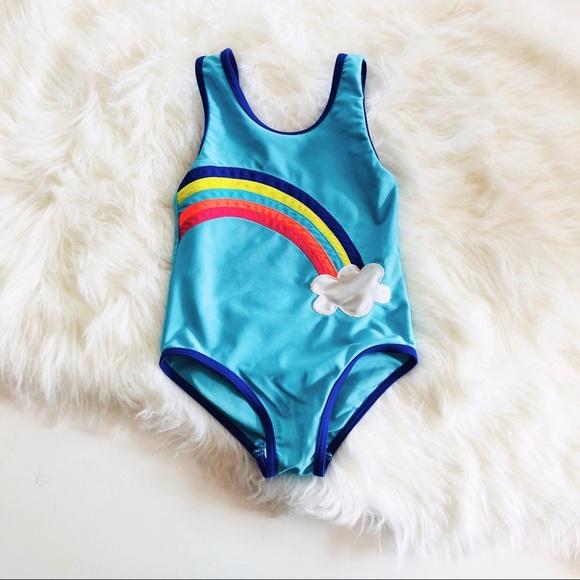 44104f8ee03a3 Mini Boden Rainbow Swimsuit. M 5b04c8ba85e605070e6e8db8